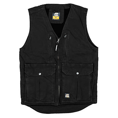 Berne Men's Duck Fleece-Lined Vest with Concealed Weapon Pockets