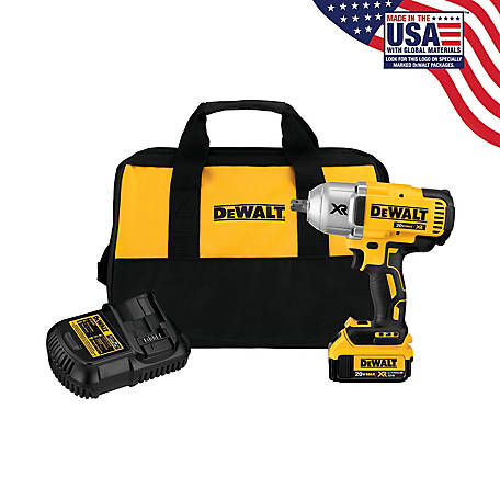DeWALT High Torque 1/2 In. Impact Wrench, 4Ah Kit, DCF899M1