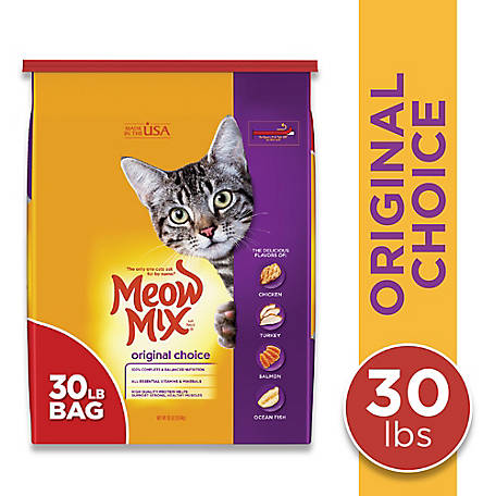Meow Mix Original Choice Dry Cat Food, 30 lb.
