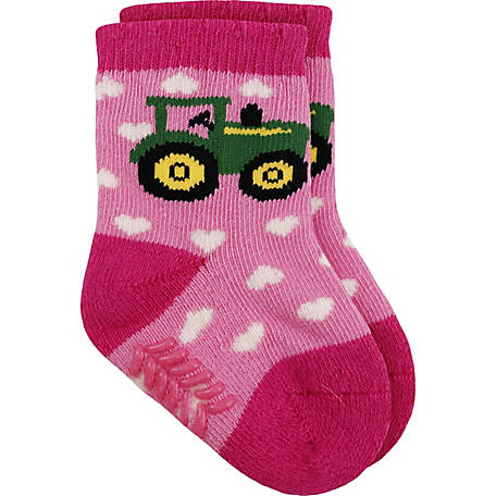John Deere Girl's Heart Crew Sock