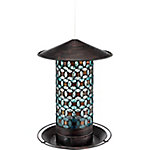 Royal Wing Decorative Mosaic Glass & Metal Bird Feeder