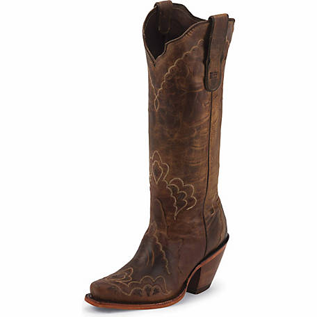 21baf7393b2 Tony Lama Women's Tan Saigets Worn Goat Black Label Western Boot at Tractor  Supply Co.