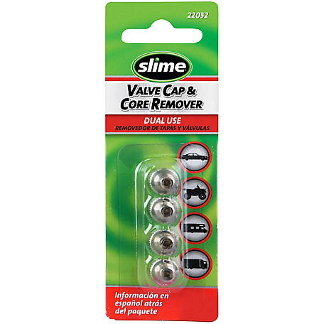 Slime Valve Caps with Valve Core Remover