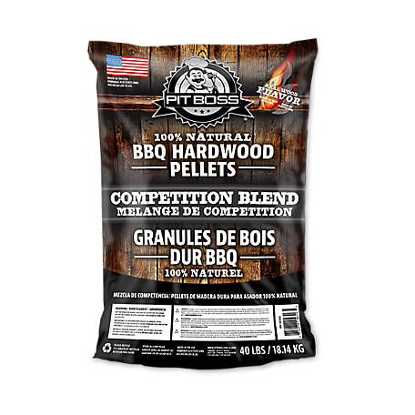 Pit Boss Hickory BBQ Pellets, Competition Blend, 40 lb.
