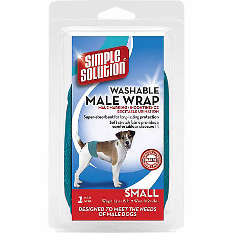 Simple Solution Washable Male Dog Wrap, Small