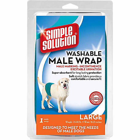 Simple Solution Washable Male Dog Wrap, Large