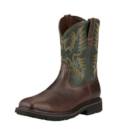 Ariat Men's 10 in. Sierra Square Steel Toe Work Boots | Tuggl