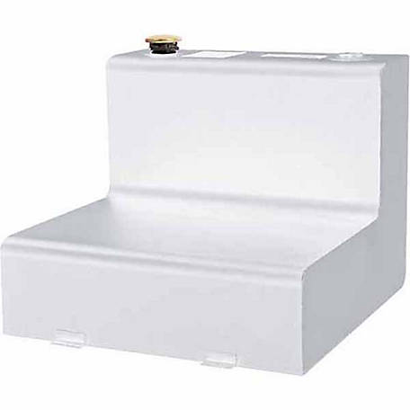 Dee Zee Transfer Tank, 55 gal. Safety Fill Capacity, Steel, White, L-Shape
