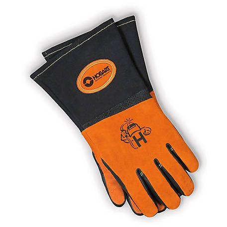 Hobart Premium Form-Fitted MIG Gloves, XL, 770639