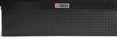tractor supply crossover deep truck tool box with pushbutton texture black