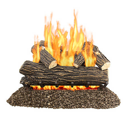 Pleasant Hearth VL-WO30D 30 in. Willow Oak Vented Gas Log Set, 65,000 BTUs
