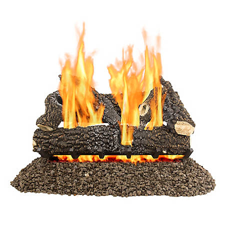 Pleasant Hearth VL-AA30D 30 in. Arlington Ash Vented Gas Log Set, 65,000 BTUs