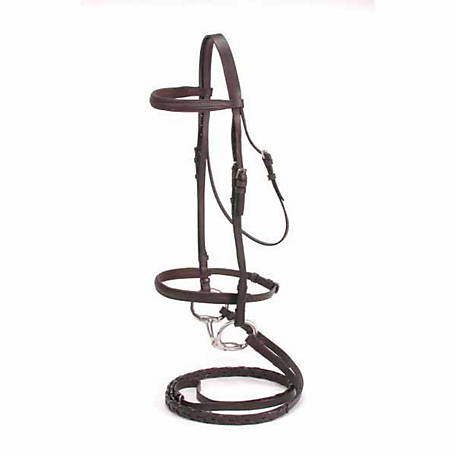 Tough-1 Padded Snaffle Bridle