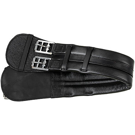 "Size 24/"" 28/"" 26/"" Black Leather Equi Royal Dressage Saddle Girth"