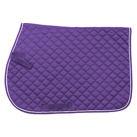 Tough-1 Square Quilted Cotton Comfort English Saddle Pad