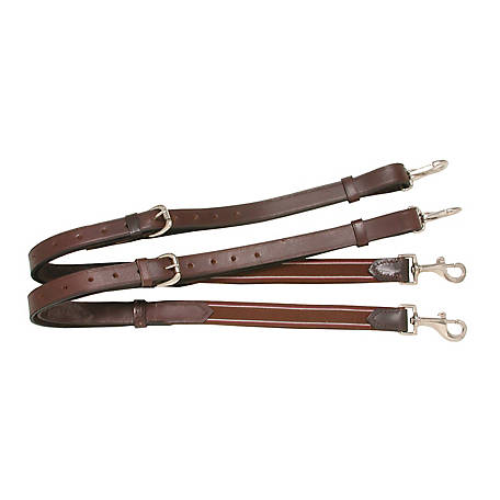Tough-1 Leather with Elastic End Side Reins