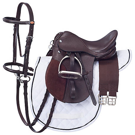 Tough-1 Miniature All Purpose English Saddle Package, English
