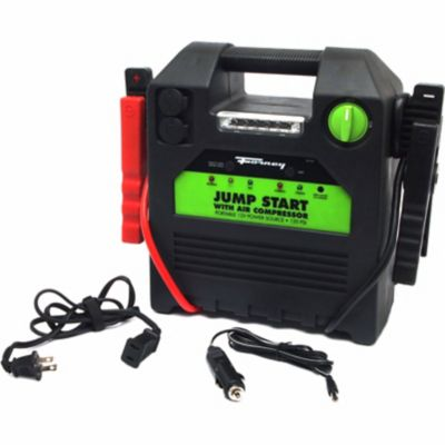 Buy Forney 52732 12-Volt Jump Start Battery Booster Pack with 120 PSI Air Compressor; 18A Hour Online