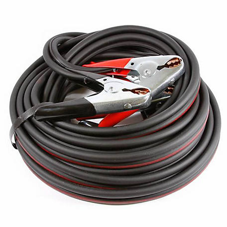 Forney 52871 Twin Cable Heavy-Duty #4 Battery Jumper Cables, 16 ft.