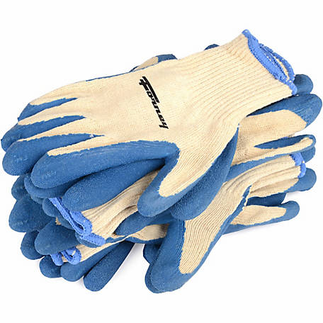 Forney 53258 Latex-Dipped Seamless Knit Gloves, X-Large, 6-Pack