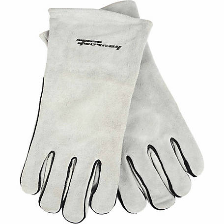 Forney Men's Gray Leather Welding Gloves