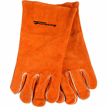 Forney Men's 53430 Brown Leather Welding Gloves, Medium