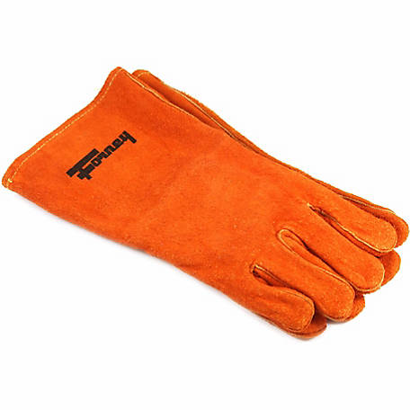 Forney Men's 55206 Welding Glove, Large, Brown Leather