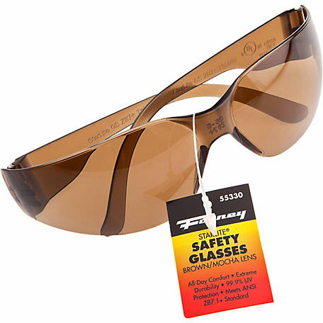 Forney 55330 Starlite Safety Glasses, Mocha