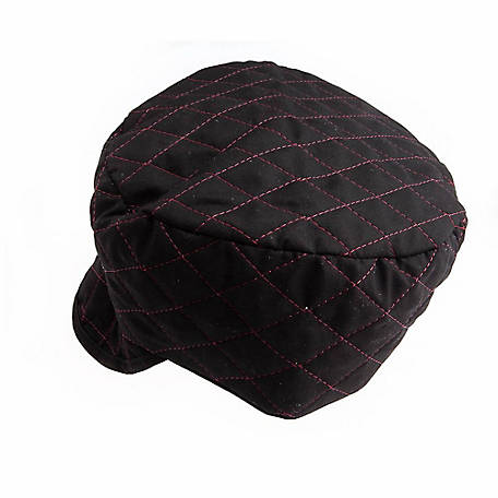 Forney 55852 Black Quilted Skull Cap with Red Lining, 7 in.
