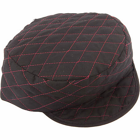 Forney 55855 Black Quilted Skull Cap with Red Lining, 7-3/8 in.