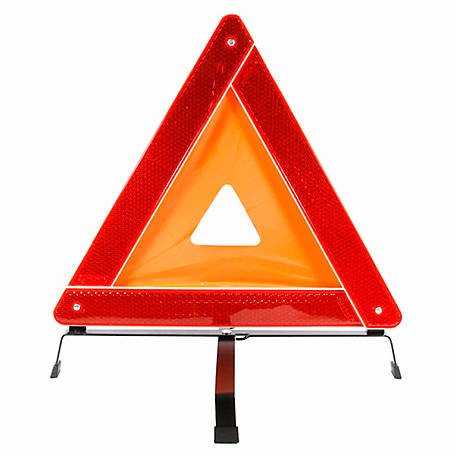 Forney 57152 18 in. Warning Triangles with Plastic Box, Orange