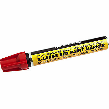 Forney 70830 Red Paint Marker, Extra-Large