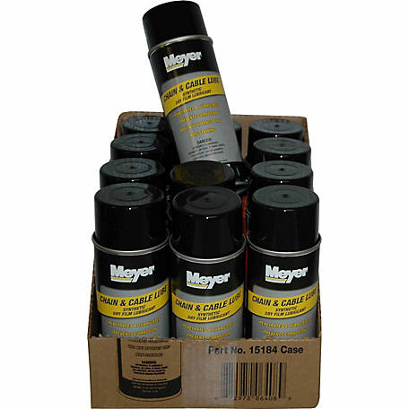 Meyer Products Chain and Cable Lube, 11 oz. Aerosol Can, Pack of 12