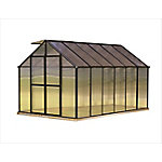 Monticello 8 ft. x 12 ft. Black Greenhouse