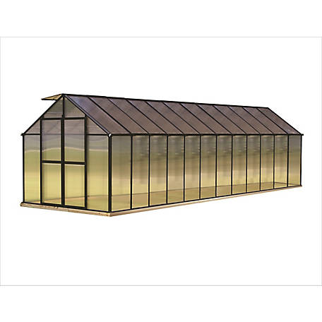 Monticello 8 ft. x 24 ft. Black Greenhouse