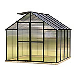 Monticello 8 ft. x 8 ft. Black Greenhouse, Premium Package