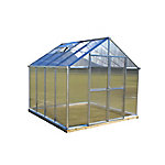 Monticello 8 ft. x 8 ft. Aluminum Greenhouse, Premium Package
