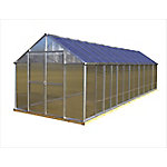 Monticello 8 ft. x 24 ft. Aluminum Greenhouse, Premium Package