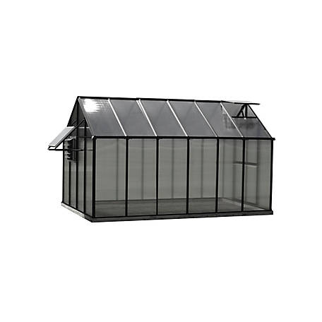 Monticello Mojave 8 ft. x 12 ft. Black Greenhouse