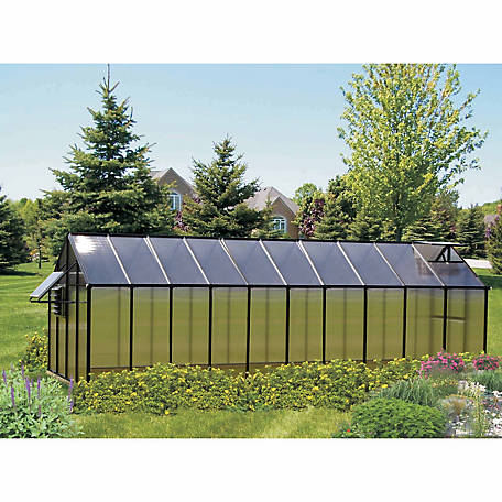 Monticello Mojave 8 ft. x 20 ft. Black Greenhouse