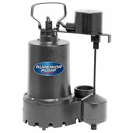 Superior Pump 1/3 HP Submersible Cast Iron Sump Pump