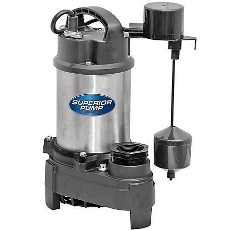 Superior Pump 3/4 HP Submersible Stainless Steel / Cast Iron Sump Pump