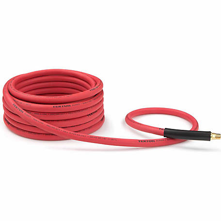 TEKTON 3/8 in. I.D. x 25 ft. Rubber Air Hose, 250 PSI