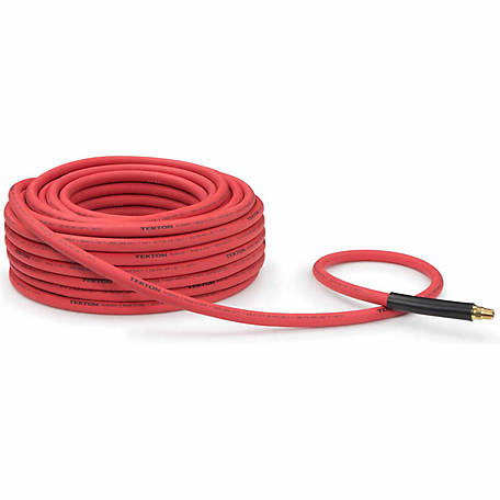 TEKTON 3/8 in. I.D. x 100 ft. Rubber Air Hose, 250 PSI