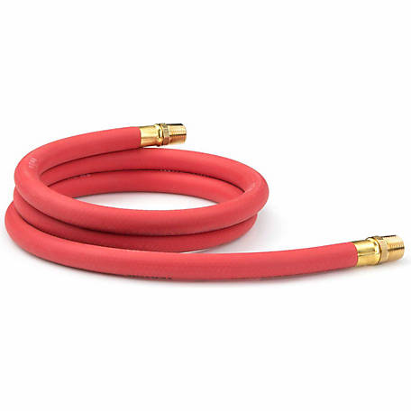 TEKTON 1/2 in. I.D. x 6 ft. Rubber Lead-In Air Hose, 250 PSI