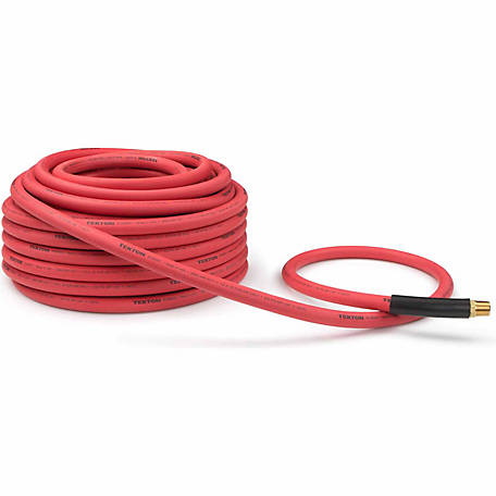 TEKTON 1/2 in. I.D. x 100 ft. Rubber Air Hose, 250 PSI