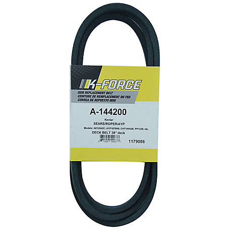 A & I Products Kevlar Deck Belt, 1/2 in. x 88.375 in. for 38 in. & 42 in. Riding Mowers, 144200