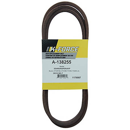 A & I Products Kevlar Deck Belt, 1/2 in. x 95.25 in. for 50 in. Riding Mowers, 138255