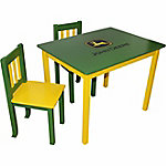 John Deere Table & Chair Set, Green/Yellow