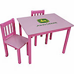 John Deere Table & Chair Set, Pink